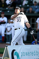 June 16th 2008:  Chris Carlson of the West Michigan Whitecaps, Class-A affiliate of the Detroit Tigers, during the Midwest League All-Star Home Run Derby at Dow Diamond in Midland, MI.  Photo by:  Mike Janes/Four Seam Images