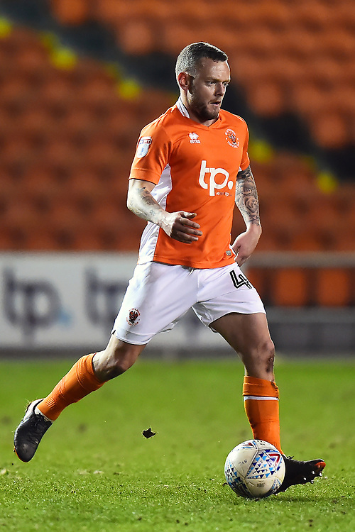 Blackpool's Jay Spearing in action<br /> <br /> Photographer Richard Martin-Roberts/CameraSport<br /> <br /> The EFL Sky Bet League One - Blackpool v Charlton Athletic - Tuesday 13th March 2018 - Bloomfield Road - Blackpool<br /> <br /> World Copyright &not;&copy; 2018 CameraSport. All rights reserved. 43 Linden Ave. Countesthorpe. Leicester. England. LE8 5PG - Tel: +44 (0) 116 277 4147 - admin@camerasport.com - www.camerasport.com