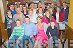 Tommy O'Mahony, Killarney, pictured with his wife Sandra, family and friends as he celebrated his 40th birthday in Corkerys Bar, Killarney on Friday night.