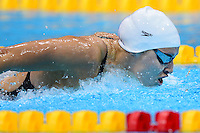 PICTURE BY ALEX BROADWAY /SWPIX.COM - 2012 London Paralympic Games - Day Three - Swimming - Aquatic Centre, Olympic Park, London, England - 01/09/12 - Sophie Pascoe of New Zealand competes in the Women's 100m Butterfly S10 Heats.