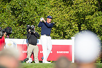 Phil Mickelson (Team USA) on the 10th tee during the Saturday morning Foursomes at the Ryder Cup, Hazeltine national Golf Club, Chaska, Minnesota, USA.  01/10/2016<br /> Picture: Golffile | Fran Caffrey<br /> <br /> <br /> All photo usage must carry mandatory copyright credit (&copy; Golffile | Fran Caffrey)