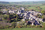 Corfe Castle is a gap town settlement sited between two chalk ridges,