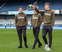 Leeds United's Jamie Shackleton, Robbie Gotts and Jack Clarke pictured before today's match<br /> <br /> Photographer Andrew Kearns/CameraSport<br /> <br /> The Emirates FA Cup Third Round - Queens Park Rangers v Leeds United - Sunday 6th January 2019 - Loftus Road - London<br />  <br /> World Copyright &copy; 2019 CameraSport. All rights reserved. 43 Linden Ave. Countesthorpe. Leicester. England. LE8 5PG - Tel: +44 (0) 116 277 4147 - admin@camerasport.com - www.camerasport.com