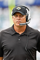October 09, 2011:   Jacksonville Jaguars head coach Jack Del Rio walks on the sidelines during first quarter action between the Jacksonville Jaguars and the Cincinnati Bengals played at EverBank Field in Jacksonville, Florida.  ........