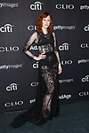 Model Karen Elson arrives at the 2017 Clio Awards in The Tent at Lincoln Center in New York City on September 27, 2017.