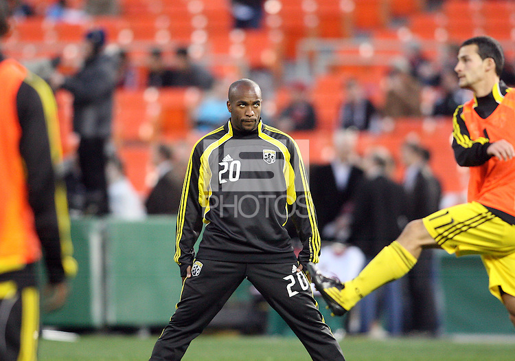 Emilio Renteria#20 of the Columbus Crew during the opening match of the 2011 season against D.C. United at RFK Stadium, in Washington D.C. on March 19 2011.D.C. United won 3-1.
