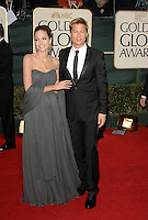 ANGELINA JOLIE &amp; BRAD PITT<br /> Red Carpet Arrivals - 64th Annual Golden Globe Awards, Beverly Hills HIlton, Beverly Hills, California, USA, January 15th 2007.<br /> globes full length strapless grey dress wrap couple <br /> CAP/PL<br /> &copy;Phil Loftus/Capital Pictures /MediaPunch ***NORTH AND SOUTH AMERICAS ONLY***