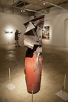 Metal sculpture by Jonas Stirner at Unit A Contemporary Art Space during Art Walk in Downtown Fort Myers River District, Fort Myers, Florida, USA, March 1, 2013. Photo by Debi Pittman Wilkey