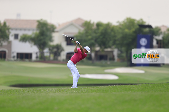 Ross Fisher (ENG) on the 14th fairway during the 3rd round of the DP World Tour Championship, Jumeirah Golf Estates, Dubai, United Arab Emirates. 17/11/2018<br /> Picture: Golffile | Fran Caffrey<br /> <br /> <br /> All photo usage must carry mandatory copyright credit (© Golffile | Fran Caffrey)