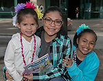 Four-year old Victoria, Maria and nine-year old Priscila during Snowfest at North Lake Tahoe on Saturday, March 11, 2017.