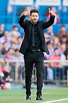 Coach Diego Simeone of Atletico de Madrid gives thumbs up during their La Liga match between Atletico de Madrid and Sevilla FC at the Estadio Vicente Calderon on 19 March 2017 in Madrid, Spain. Photo by Diego Gonzalez Souto / Power Sport Images