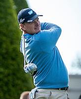 21.05.2015. Wentworth, England. BMW PGA Golf Championship. Round 1.  Ernie Els [RSA] on the first tee. The first round of the 2015 BMW PGA Championship from The West Course Wentworth Golf Club