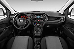 Stock photo of straight dashboard view of 2015 Ram Promaster City SLT 5 Door Mini Mpv Dashboard