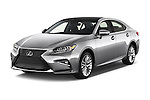 2017 Lexus ES 350 4 Door Sedan 2WD Angular Front stock photos of front three quarter view