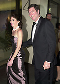 United States Senator George F. Allen (Republican of Virginia) and his wife, Susan, arrive for the annual White House Correspondents Association Dinner in Washington, D.C. on April 28, 2001.<br />