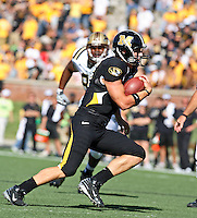 MU quarterback Chase Patton runs for 18 yards and a touchdown during the fourth quarter against the Western Michigan Broncos at Memorial Stadium in Columbia, Missouri on September 15, 2007. The Tigers won 52-24.