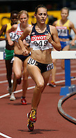 Jennifer Barringer of the USA ran 9:51.04sec in her heat of the 3000m steeplechase at the 11th. IAAF World Championships on Saturday, August 25, 2007. Photo by Errol Anderson, The Sporting Image.