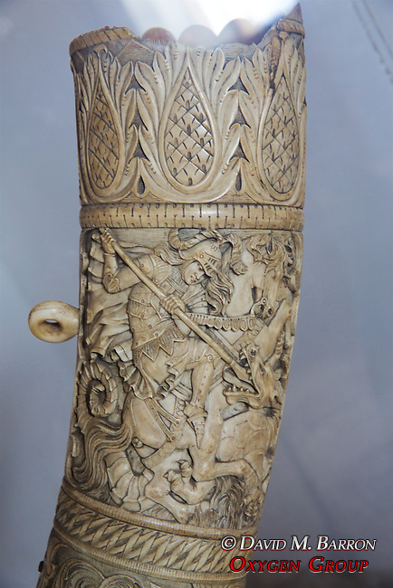 Carved Elephant Ivory Tusk, Museum Of The Royal Houses