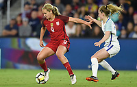 Orlando City, FL - Wednesday March 07, 2018: Lindsey Horan during a 2018 SheBelieves Cup match between the women's national teams of the United States (USA) and England (ENG) at Orlando City Stadium.