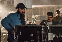 Overlord (2018)<br /> Director Julius Avery, Producer J.J. Abrams, Jovan Adepo on the set<br /> *Filmstill - Editorial Use Only*<br /> CAP/MFS<br /> Image supplied by Capital Pictures