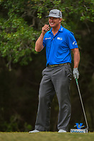 Charley Hoffman (USA) shares a laugh on the 14th tee during Round 3 of the Valero Texas Open, AT&amp;T Oaks Course, TPC San Antonio, San Antonio, Texas, USA. 4/21/2018.<br /> Picture: Golffile   Ken Murray<br /> <br /> <br /> All photo usage must carry mandatory copyright credit (&copy; Golffile   Ken Murray)