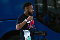 LISBON, PORTUGAL - AUGUST 15: Brazilian profesional soccer player Neymar  arrfrom the PSG arriving to Myriad hotel in Lisbon, on August 15, 2020.<br /> Paris Saint-Germain won against Atalanta (2-1), this Wednesday in Lisbon, to qualify for the semifinals of the Champions League, for the first time since 1995. They will play againist the RB Leipzig on Tuesday.<br /> (Photo by Luis Boza/VIEWpress via Getty Images)