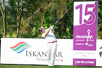 Richie Ramsay (SCO) tees off on the 15th tee during Saturday's storm delayed conclusion of Round 2 of the Iskandar Johor Open 2011 at the Horizon Hills Golf Resort Johor, Malaysia, 19th November 2011 (Photo Eoin Clarke/www.golffile.ie)