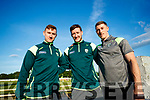 Kerry Players, James O'Donoghue, Brian Kelly and Jonathan Lyne pictured at the Kingdom Greyhound Stadium, Tralee, GAA Night of Champions on Friday night last.