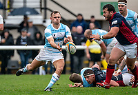 Sam Stuart of Newcastle Falcons during the Greene King IPA Championship match between London Scottish Football Club and Newcastle Falcons at Richmond Athletic Ground, Richmond, United Kingdom on 12 October 2019. Photo by Liam McAvoy.