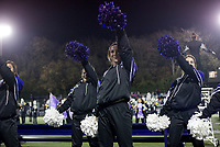 NWA Democrat-Gazette/CHARLIE KAIJO Fayetteville High School cheerleaders perform during a playoff football game on Friday, November 10, 2017 at Fayetteville High School in Fayetteville.