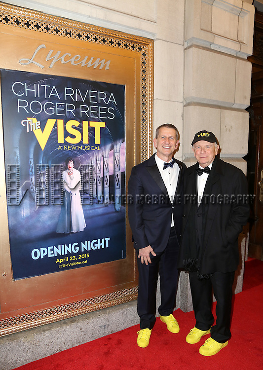 Tom Kirdahy and Terrence McNally attends the Broadway Opening Night Performance of 'The Visit' at the Lyceum Theatre on April 23, 2015 in New York City.