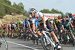 World Champion Alejandro Valverde (ESP) Movistar Team and the main contenders with 1km to go to the end of Stage 6 of La Vuelta 2019 running 198.9km from Mora de Rubielos to Ares del Maestrat, Spain. 29th August 2019.<br /> Picture: Colin Flockton | Cyclefile<br /> <br /> All photos usage must carry mandatory copyright credit (© Cyclefile | Colin Flockton)