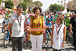 Ready for the start of Stage 7 of the La Vuelta 2018, running 185.7km from Puerto Lumbreras to Pozo Alc&oacute;n, Spain. 31st August 2018.<br /> Picture: Unipublic/Photogomezsport | Cyclefile<br /> <br /> <br /> All photos usage must carry mandatory copyright credit (&copy; Cyclefile | Unipublic/Photogomezsport)