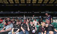 Fans pre kick off<br /> <br /> Photographer Rachel Holborn/CameraSport<br /> <br /> Aviva Premiership Final - Exeter Chiefs v Saracens - Saturday 26th May 2018 - Twickenham Stadium - London<br /> <br /> World Copyright &copy; 2018 CameraSport. All rights reserved. 43 Linden Ave. Countesthorpe. Leicester. England. LE8 5PG - Tel: +44 (0) 116 277 4147 - admin@camerasport.com - www.camerasport.com
