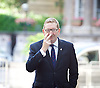 Len McCluskey <br /> arriving for the Andrew Marr show BBC London Great Britain <br /> 3rd July 2016 <br /> <br /> Photograph by Elliott Franks <br /> Image licensed to Elliott Franks Photography Services