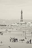 Blackpool Airshow 2010. Lovely Sunny day, with people gathering before the start of the Airshow.