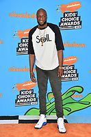 Lamar Odom at Nickelodeon's 2018 Kids' Choice Awards at The Forum, Los Angeles, USA 24 March 2018<br /> Picture: Paul Smith/Featureflash/SilverHub 0208 004 5359 sales@silverhubmedia.com