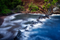 Red Sand Beach (Kaimalulu Beach). Maui, Hawaii