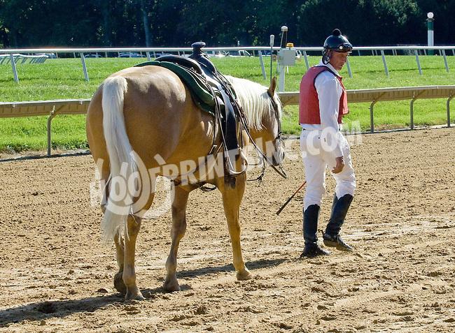 Lance winning at Delaware Park on 9/19/12