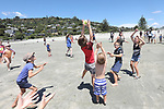 NELSON, NEW ZEALAND - January 6: Black Caps playing beach cricket with Nelson fans on January 6 2019 in Nelson, New Zealand. (Photo by: Evan Barnes Shuttersport Limited)