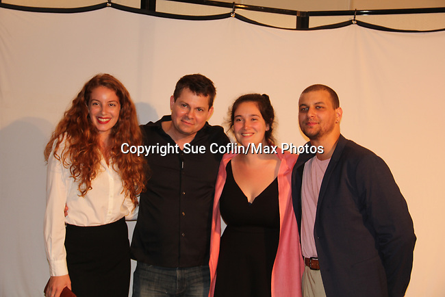 """Cast of The F with  As The World Turns' Trent Dawson who wrote """"The F"""" held a Benefit for the film on June 22, 2018 at the Freeman Studio, New York City, New York. (Photo by Sue Coflin/Max Photo)"""