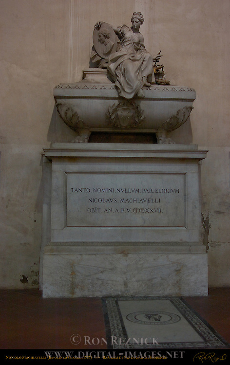 Monument to Niccolo Machiavelli Innocenzo Spinazzi 1787 Santa Croce Florence
