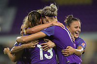 Orlando, FL - Thursday September 07, 2017: Orlando Pride celebrates a goal during a regular season National Women's Soccer League (NWSL) match between the Orlando Pride and the Seattle Reign FC at Orlando City Stadium.