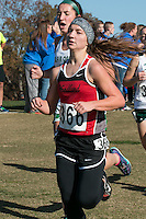 Cheyenne Wells of Woodland runs to a 34th-place finish in the Class 2 race at the 2015 MSHSAA State Cross Country Championships.