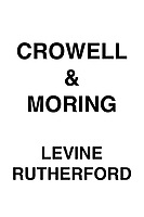 Crowell & Moring Levine Rutherford