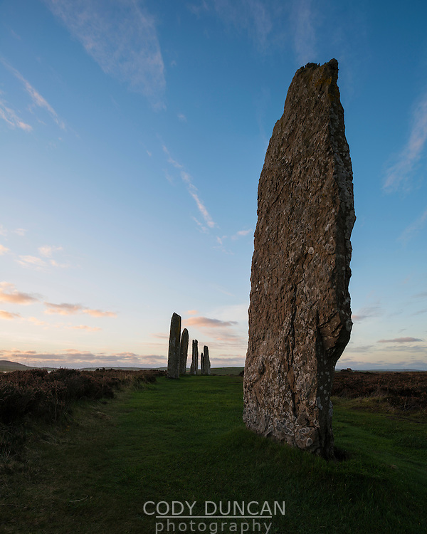Standing stones at Ring of Brodgar, Orkney, Scotland