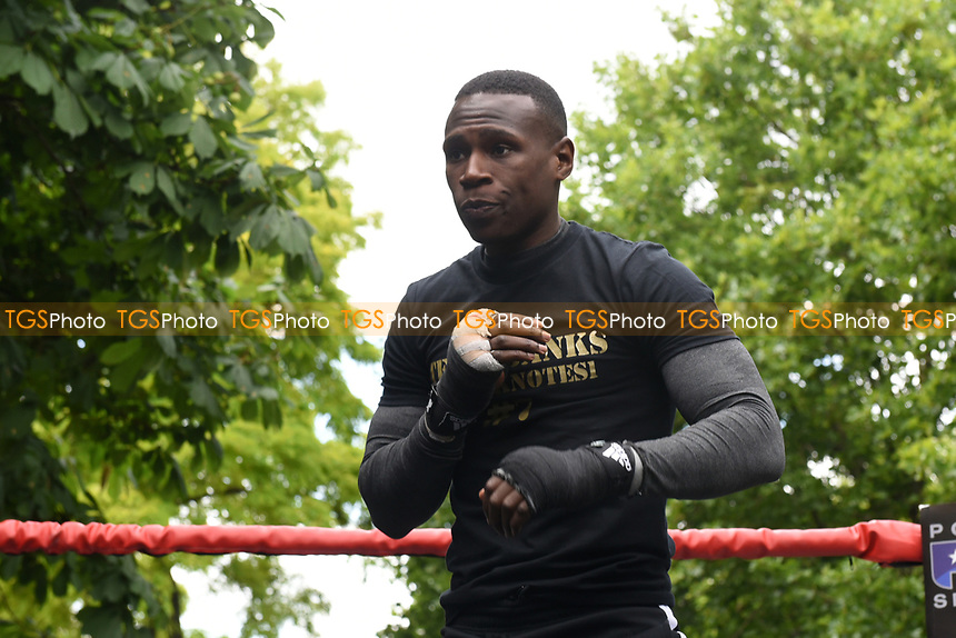 Nathaniel Wilson during a Public Work Out at ITV Head Office on 12th July 2017