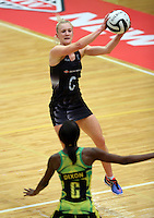 17.09.2016 Silver Ferns Shannon Francois in action during the Taini Jamison netball match between the Silver Ferns and Jamaica played at the Energy Events Centre in Rotorua. Mandatory Photo Credit ©Michael Bradley.