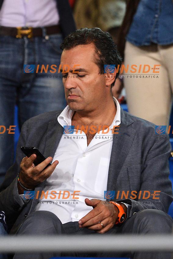 """Luigi De Magistris sindaco di Napoli in tribuna .Napoli 26/9/2012 Stadio """"San Paolo"""".Football Calcio Serie A 2012/2013.Napoli Vs Lazio.Foto Andrea Staccioli Insidefoto"""