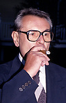 Milos Forman attends The Crystal Apple Awards on June 1, 1995 at Grace Mansion in New York City.
